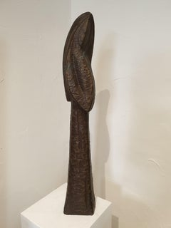 'Una Signora Avvolta Nel Mistero', Imposing Italian Mid-Century Female Bronze.