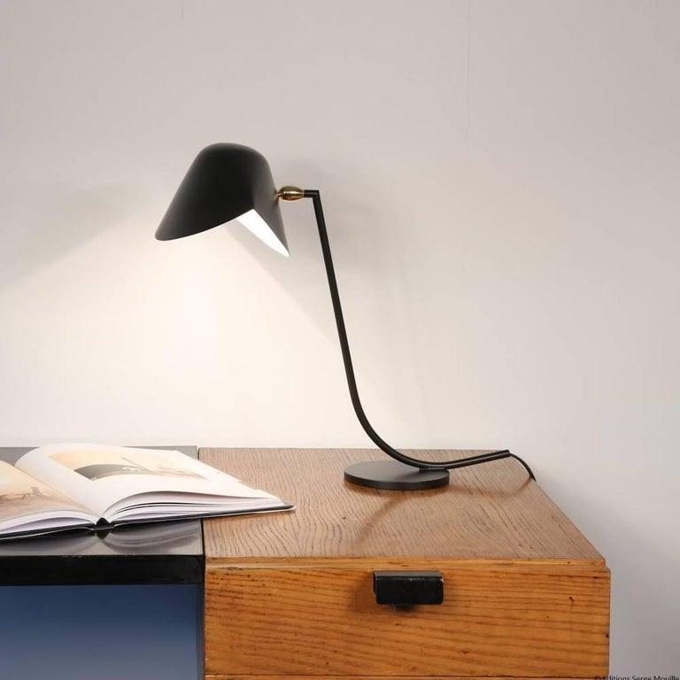 Beautiful desk lamp by Serge Mouille.