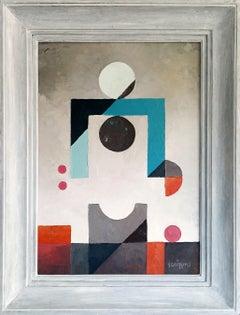 """""""My Body and I"""", Neue Constructivist Abstract Acrylic Painting"""