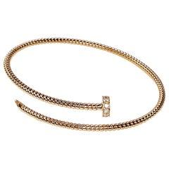 Antora Tubogas 18 Karat Rose Gold and Diamonds Diamond Bangle Bracelet