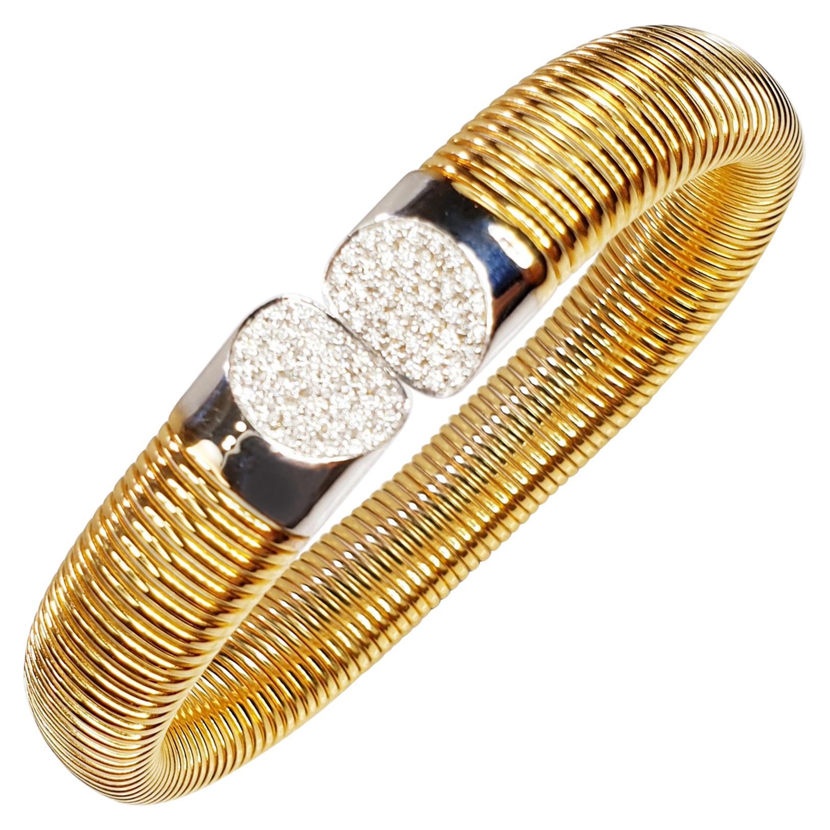 Antora Tubogas 18 Karat Rose Gold and Diamonds Diamond Bracelet
