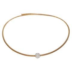 Antora Tubogas 18 Karat Rose Gold and Diamonds Diamond Necklace