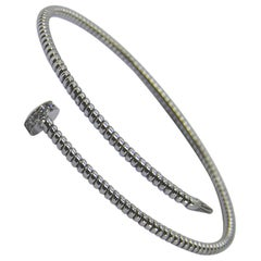 Antora Tubogas 18 Karat White Gold and Diamonds Diamond Bangle Bracelet