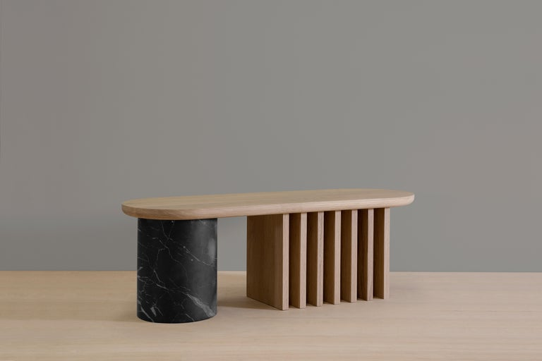 Antropología 07 is an oak and marble bench designed by Raul de la Cerda for BREUER ESTUDIO. This pies is part of Antropología Collection in which Raul collaborated with BREUER to create exceptional pieces.   Raul de la Cerda is an