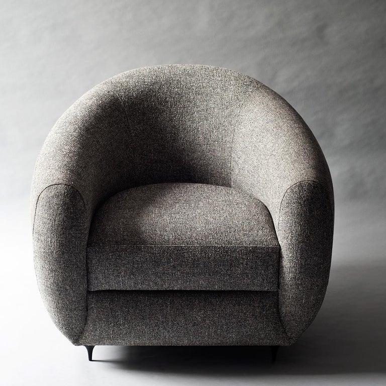 Antwerp Side Chair by DeMuro Das with Hand-Cast Legs in Solid Black Satin Bronze 3
