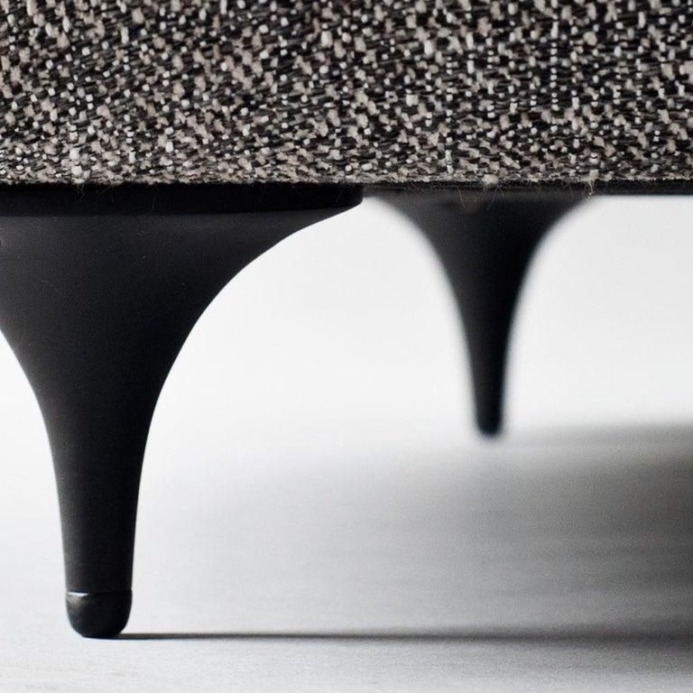 Antwerp Side Chair by DeMuro Das with Hand-Cast Legs in Solid Black Satin Bronze 5