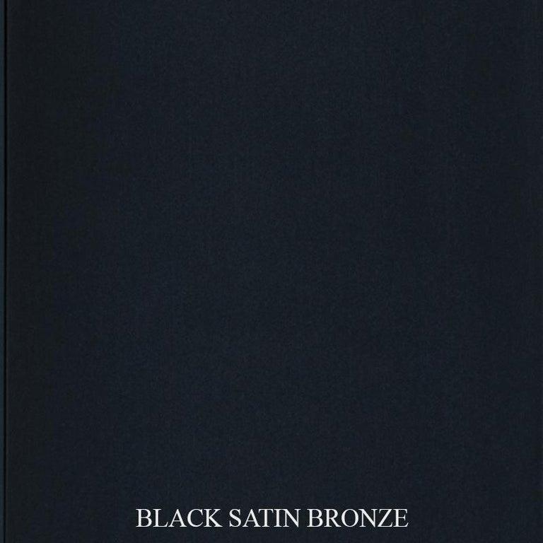 Antwerp Side Chair by DeMuro Das with Hand-Cast Legs in Solid Black Satin Bronze 6