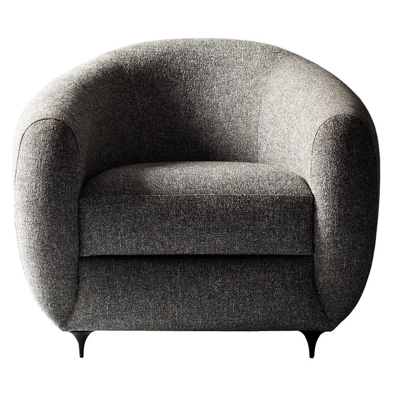 Antwerp Side Chair by DeMuro Das with Hand-Cast Legs in Solid Black Satin Bronze