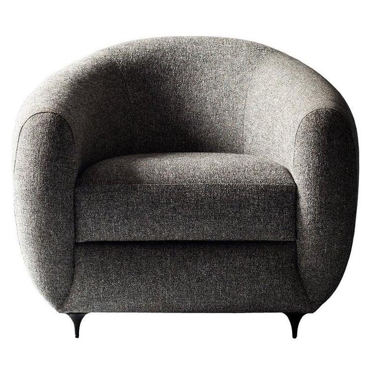 Antwerp Side Chair by DeMuro Das with Hand-Cast Legs in Solid Black Satin Bronze 1