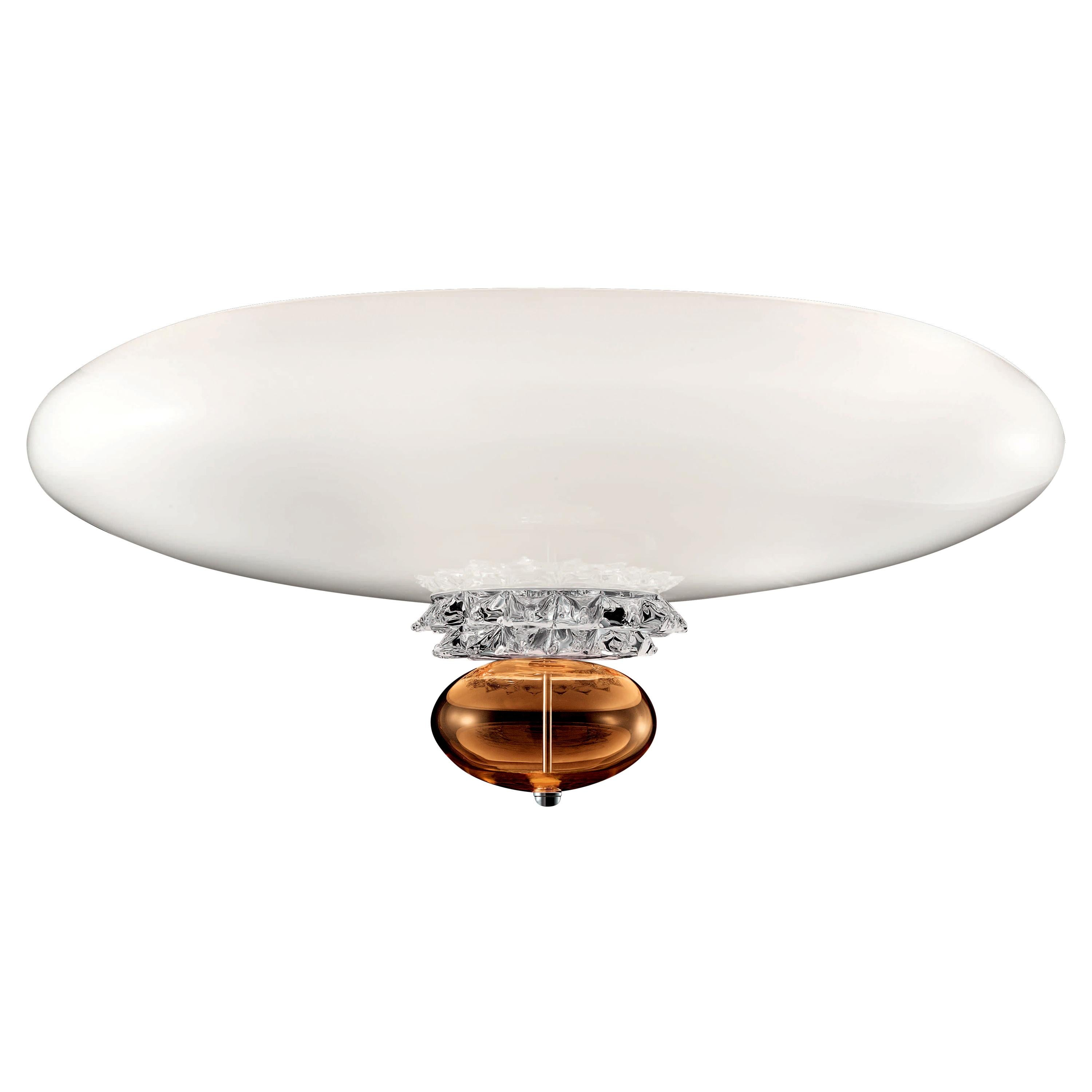 Anversa 5698 Ceiling Lamp in Chrome and Glass, by Barovier&Toso