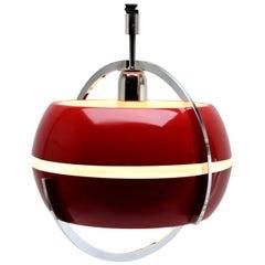 Anvia, Cherry Red Pendant Light, by Jan Hoogervorst, NL, 1958