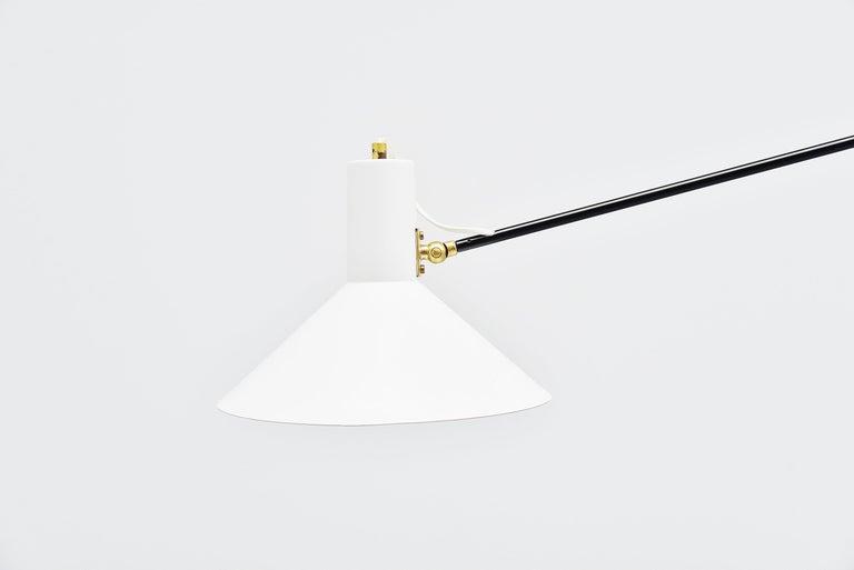Mid-Century Modern Anvia Counter Balance Ceiling Lamp JJM Hoogervorst, Holland, 1957 For Sale