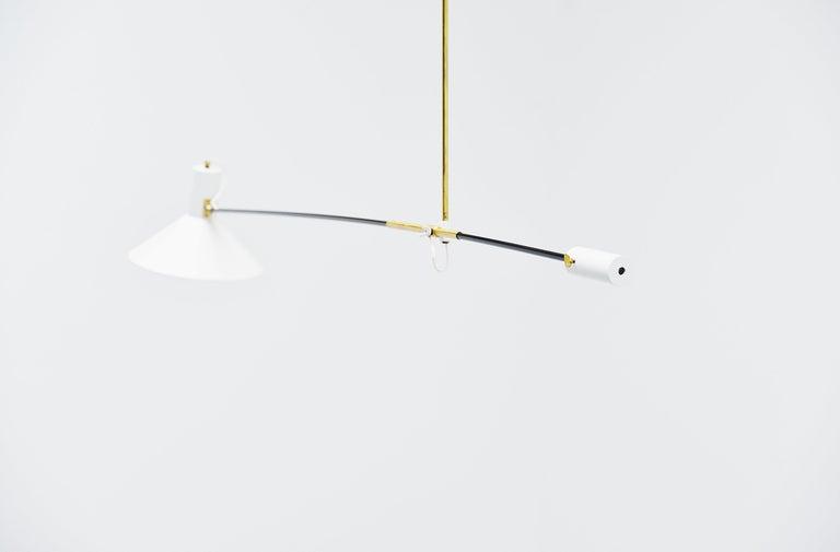 Metal Anvia Counter Balance Ceiling Lamp JJM Hoogervorst, Holland, 1957 For Sale