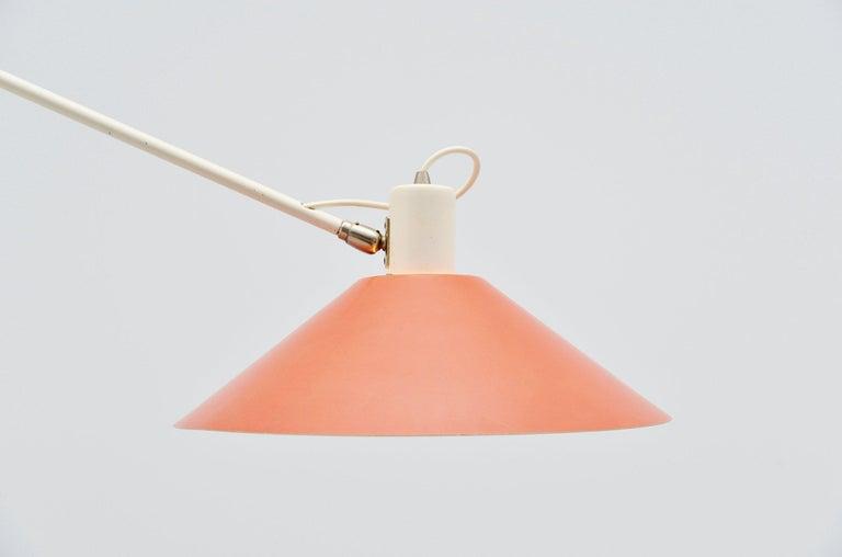 Cold-Painted Anvia JJM Hoogervorst Counter Balance Ceiling Lamp Holland, 1955 For Sale