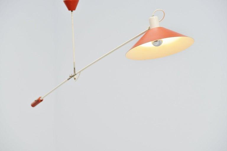 Anvia JJM Hoogervorst Counter Balance Ceiling Lamp Holland, 1955 For Sale 1