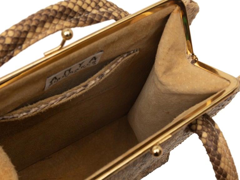 Brown Anya Hindmarch Beige & Black Python Handbag