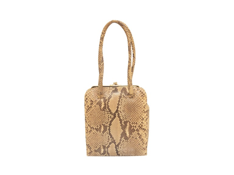 Anya Hindmarch Beige & Black Python Handbag 1
