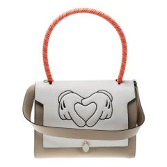 Anya Hindmarch Beige/ Off White Leather Small Bathurst Satchel