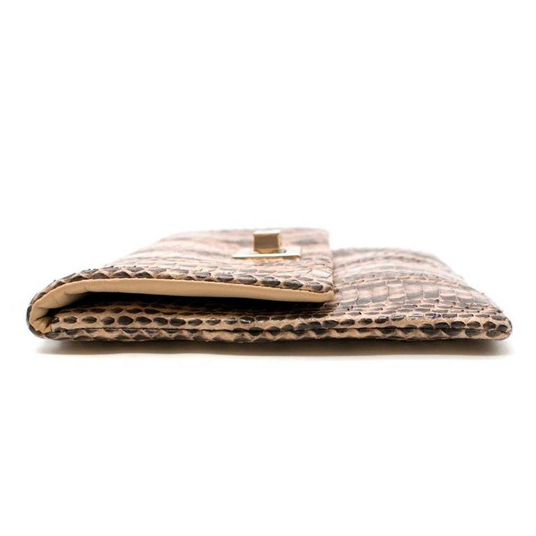 Anya Hindmarch Beige Python Valorie Clutch Bag For Sale 3