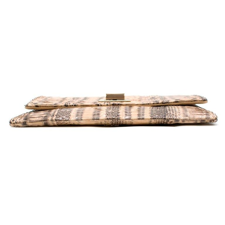Anya Hindmarch Beige Python Valorie Clutch Bag For Sale 5