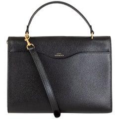 ANYA HINDMARCH black leather POSTBOX Satchel Shoulder Bag