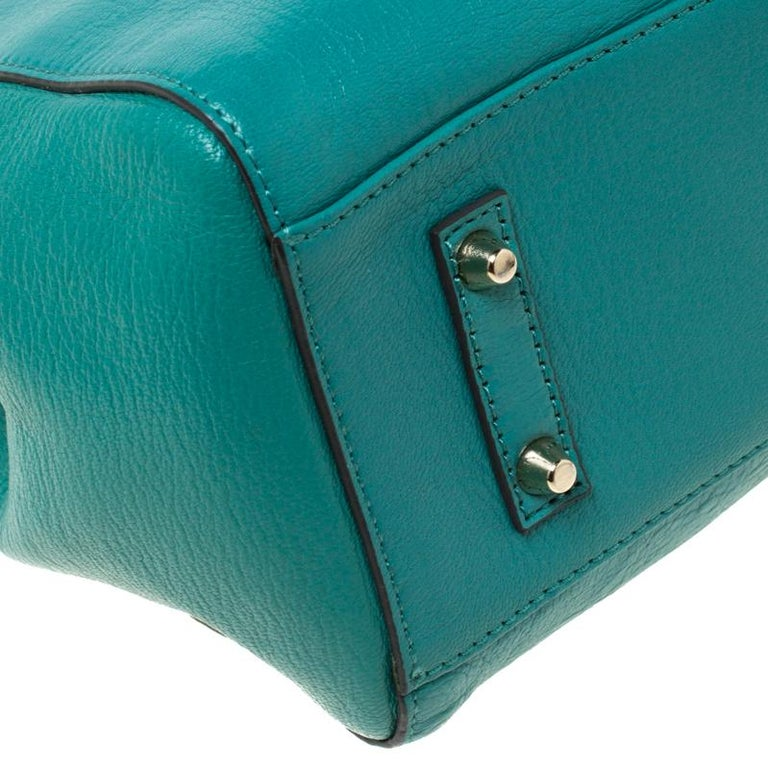 Anya Hindmarch Green Leather Ebury Soft Tote 6