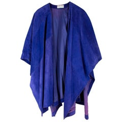 Anya Hindmarch Purple Suede Cape - One Size