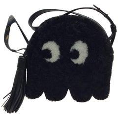 Anya Hindmarch Small Black Shearling Ghost Crossbody Bag NWT