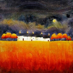 Anya Simmons, Dancing Moon Cottages, Limited edition landscape print