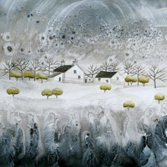 Anya Simmons, Snow Blossom Cottage, Limited Edition Landscape Print