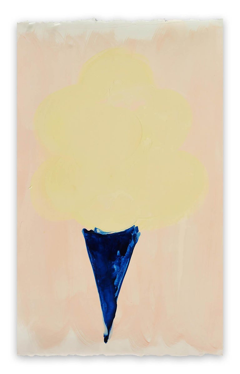 Anya Spielman Abstract Painting - Cream Cone
