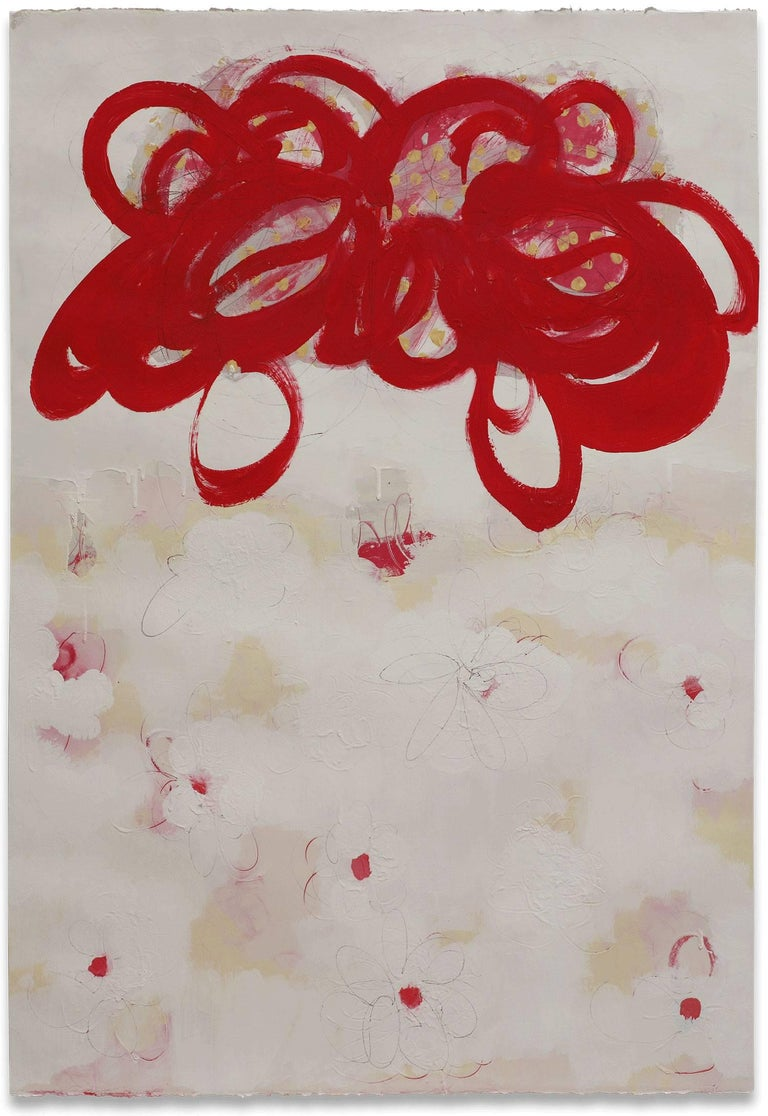 Anya Spielman Abstract Drawing - Flutter (Abstract Painting)