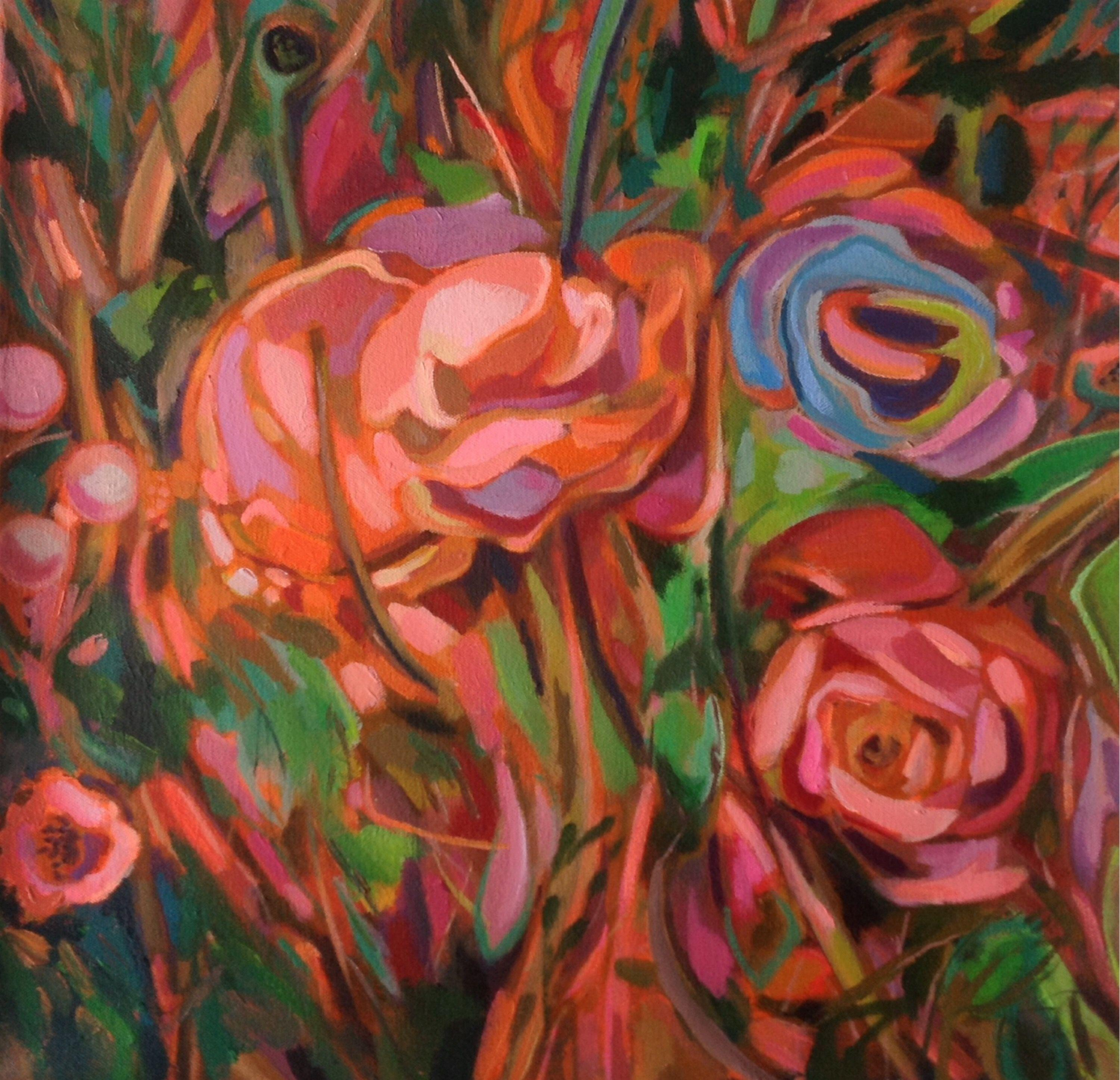 Wild Bouquet, Painting, Acrylic on Canvas