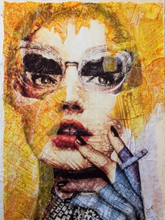 So Very Chic, Mixed Media on Wood Panel