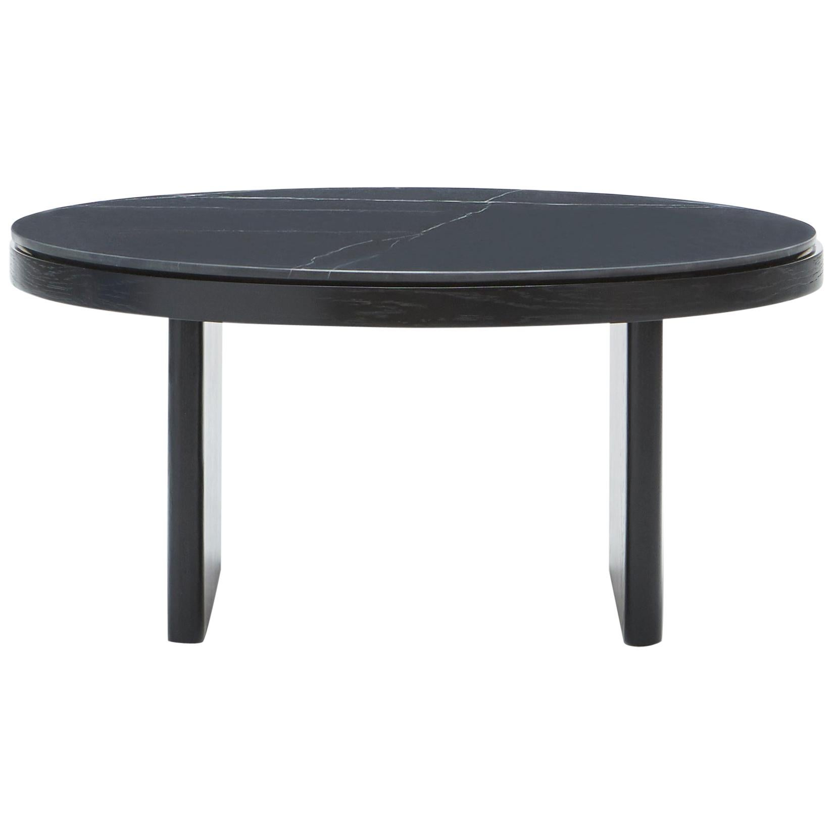 Anza Black Carrara Marble Coffee Table
