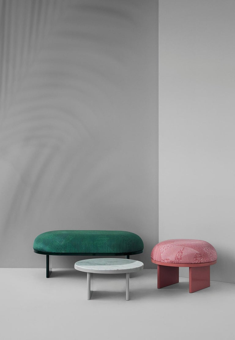 Modern Anza White Carrara Marble Coffee Table  For Sale