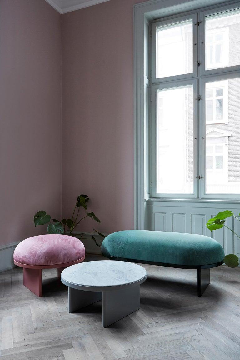 Danish Anza White Carrara Marble Coffee Table  For Sale