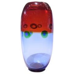 """Anzolo Fuga Hand Blown """"Murrine Incatenate"""" Glass Vase, circa 1960"""