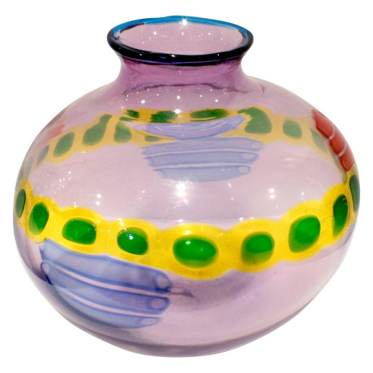 Hand blown glass vase from the