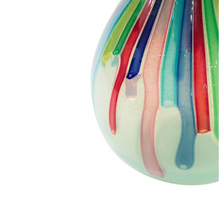 Italian Anzolo Fuga Rare Handblown Hourglass Vase, circa 1960 For Sale