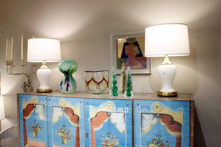Anzolo Fuga Rare Handblown Hourglass Vase, circa 1960 In Excellent Condition For Sale In New York, NY