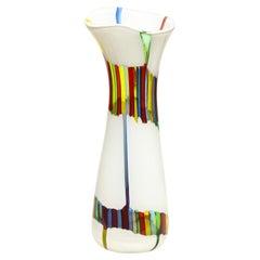 Anzolo Fuga Vase with Multicolor Rods ca 1955