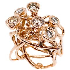 Aop.934.D 18 Karat Rose Gold Polipo Ring with Diamonds 2.47 Carat
