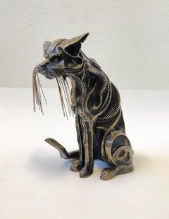 AP Bronze Cat Sculpture Signed by John Jagger