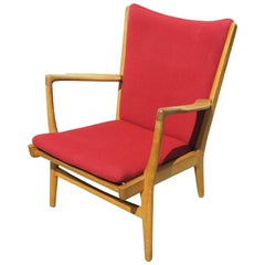 Oak Armchair, Model AP16, by Hans Wegner for A.P. Stolen