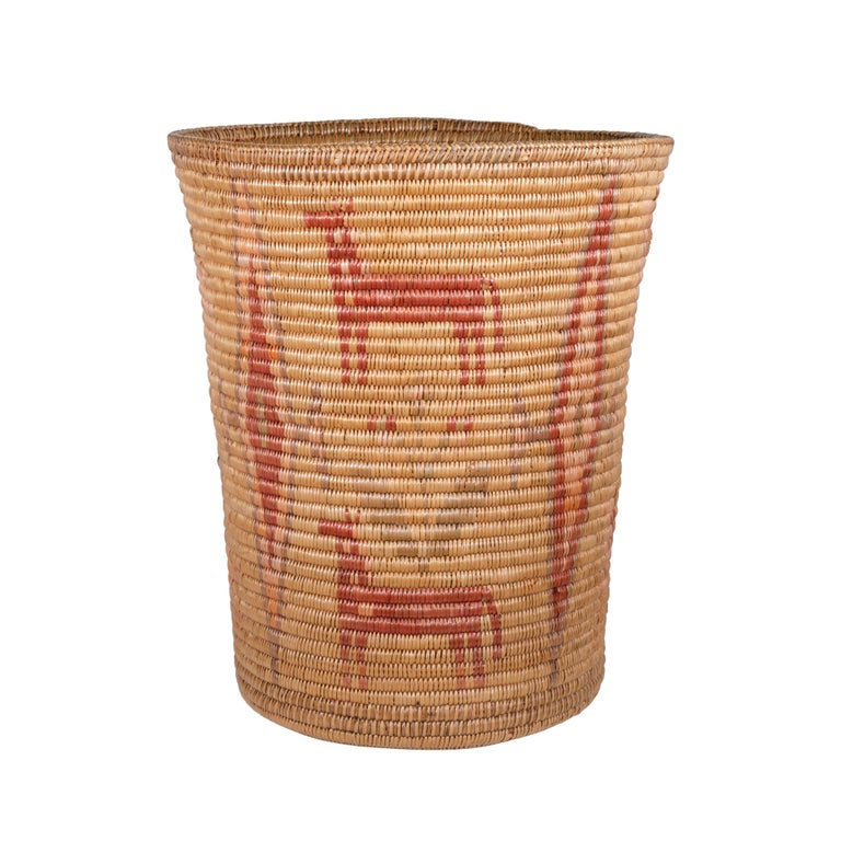 20th Century Apache Jicarilla Apache Basket For Sale