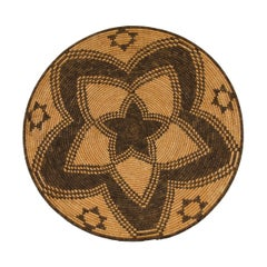 Apache Tray, Vintage Southwestern Native American Basketry Plaque, circa 1900