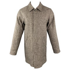 A.P.C. Size S Gray Woven Wool Blend Buttoned Coat