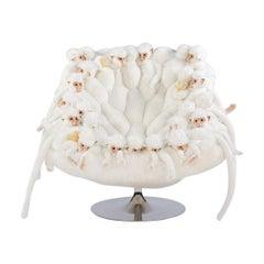 Apes White Armchair