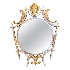 """Aphrodite Mirror,"" Fabulous Art Deco Bronze Mirror in the Manner of Poillerat"